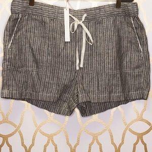 CASLON Nordstrom Striped Linen Shorts